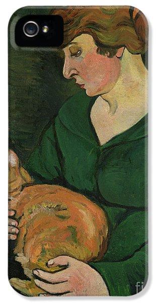 Cat iPhone 5 Case - Louison E Raminou by Marie Clementine Valadon