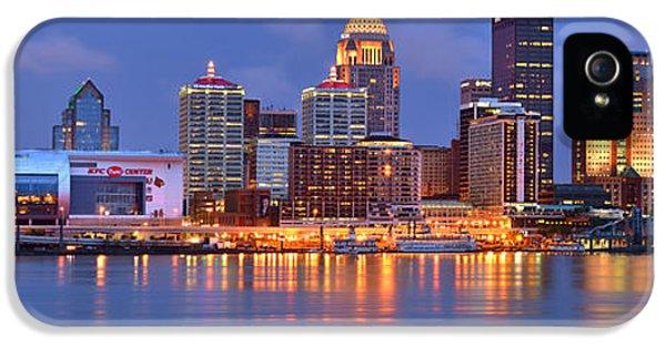 Louisville Skyline At Dusk Sunset Panorama Kentucky IPhone 5 Case by Jon Holiday