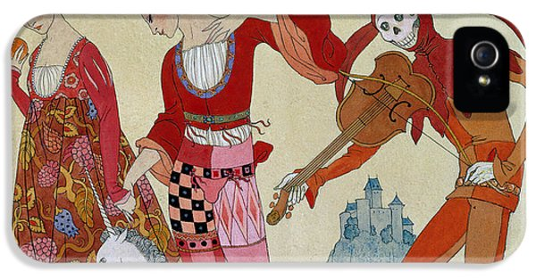 Swallow iPhone 5 Case - Love Desire And Death by Georges Barbier