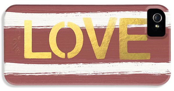 Love In Gold And Marsala IPhone 5 Case by Linda Woods