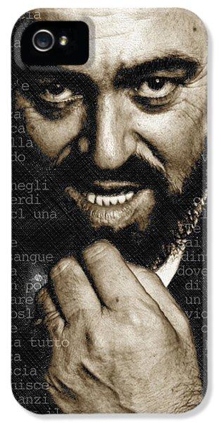 Luciano Pavarotti Vertical IPhone 5 Case by Tony Rubino