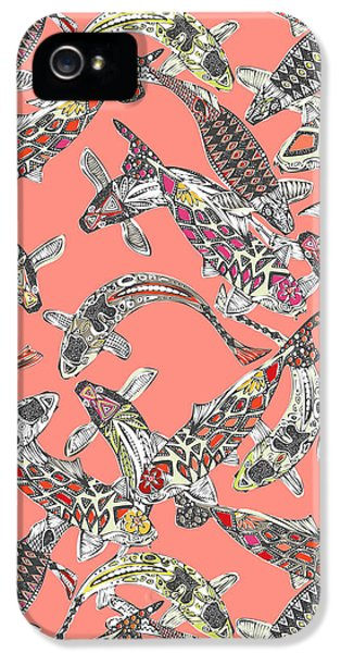 Lucky Koi Coral IPhone 5 Case by Sharon Turner
