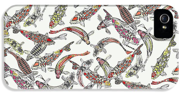 Lucky Koi Off White IPhone 5 Case by Sharon Turner