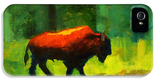 Lumbering IPhone 5 Case by Nancy Merkle
