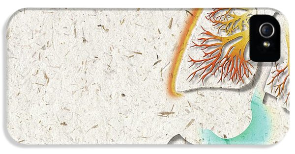 Lung Inflammation IPhone 5 Case by Harvinder Singh