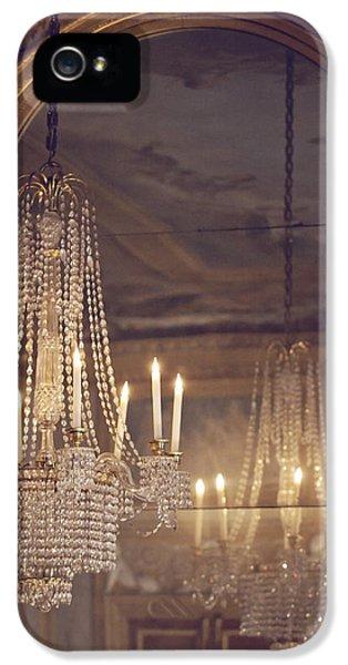 Lustre De Fontainebleau - Paris Chandelier IPhone 5 Case by Melanie Alexandra Price