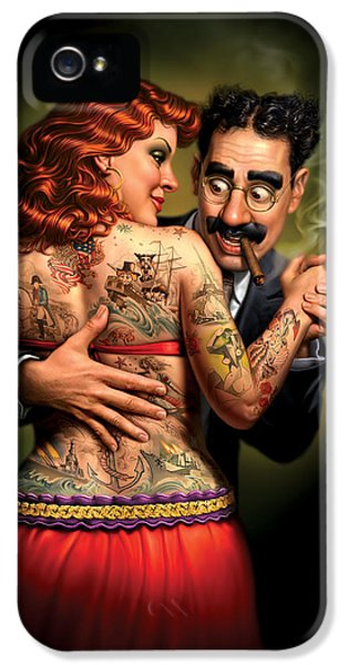 Lydia The Tattooed Lady IPhone 5 Case by Mark Fredrickson