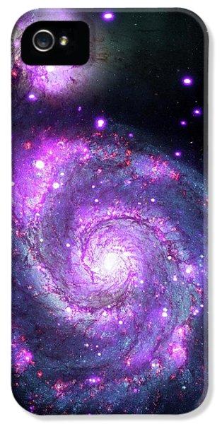 M51 Whirlpool Galaxy IPhone 5 Case