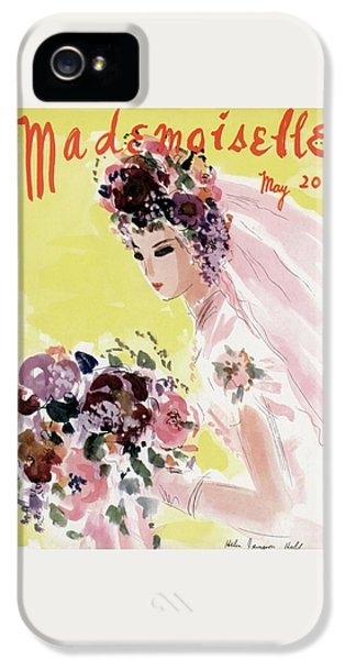 Mademoiselle Cover Featuring A Bride IPhone 5 Case by Helen Jameson Hall
