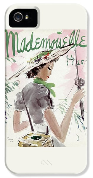 Mademoiselle Cover Featuring A Woman Holding IPhone 5 Case