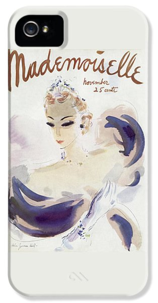Mademoiselle Cover Featuring A Woman In A Gown IPhone 5 Case by Helen Jameson Hall