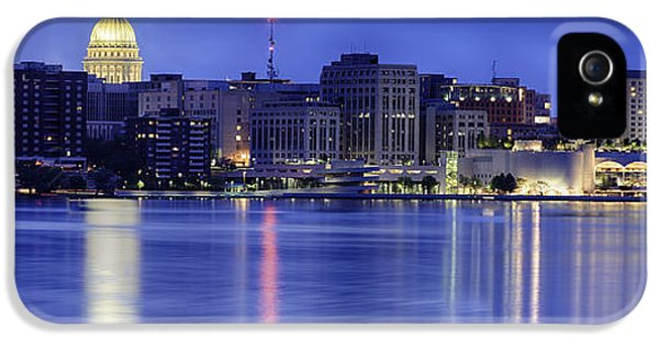 Madison Skyline Reflection IPhone 5 Case by Sebastian Musial