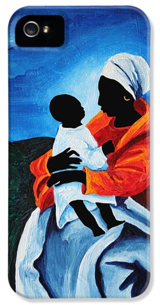 Madonna And Child First Words IPhone 5 Case by Patricia Brintle