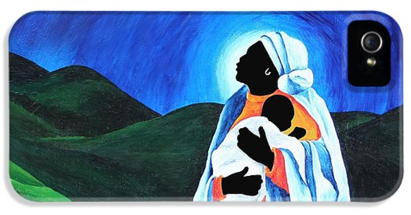 Madonna And Child  Hope For The World IPhone 5 Case by Patricia Brintle