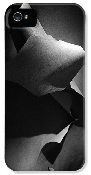 Madrona Bark Black And White IPhone 5 Case by Yulia Kazansky
