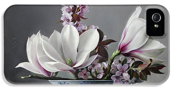 Magnolia And Apple Blossem IPhone 5 Case by Pieter Wagemans