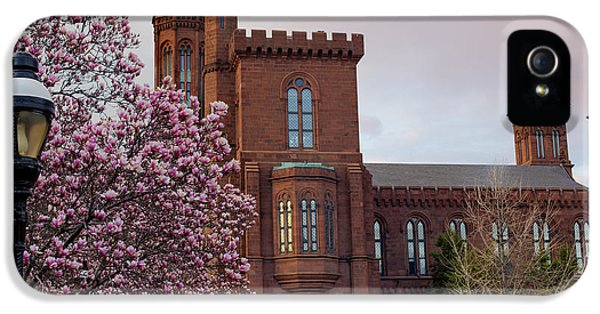 Magnolias Near The Castle IPhone 5 Case by Andrew Pacheco