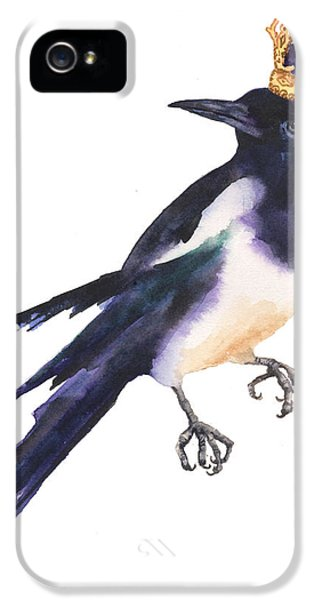 Magpie Watercolor IPhone 5 Case by Alison Fennell