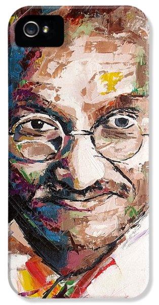 Mahatma Gandhi IPhone 5 Case by Richard Day