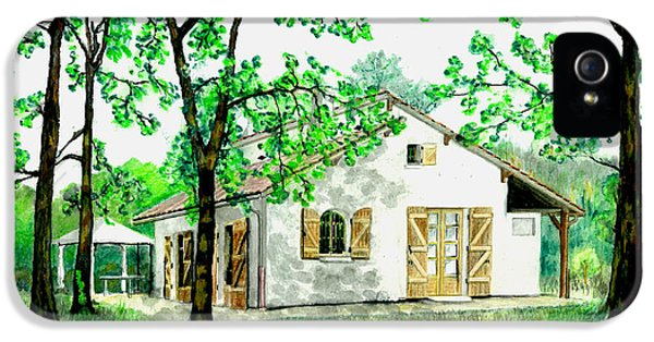IPhone 5 Case featuring the painting Maison En Medoc by Marc Philippe Joly