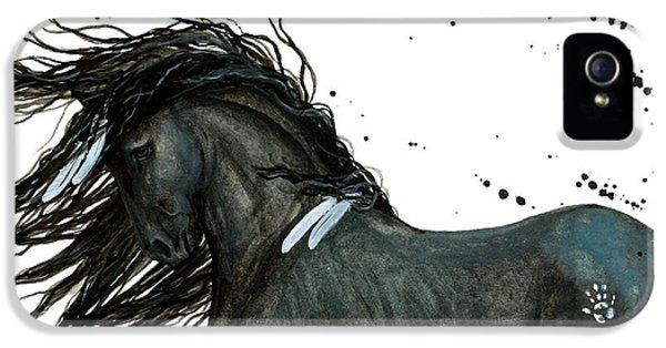 Majestic Friesian Horse 112 IPhone 5 Case