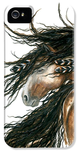Majestic Pinto Horse 80 IPhone 5 Case by AmyLyn Bihrle