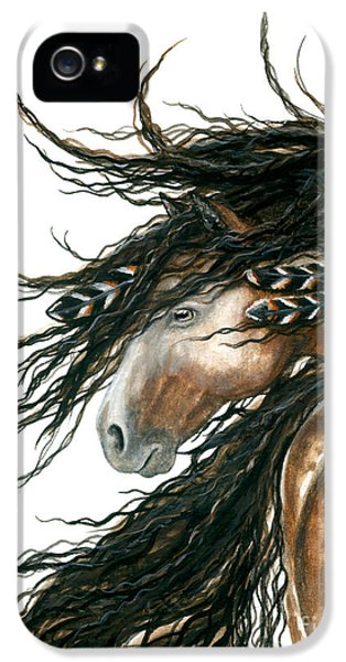 Horse iPhone 5 Case - Majestic Pinto Horse 80 by AmyLyn Bihrle