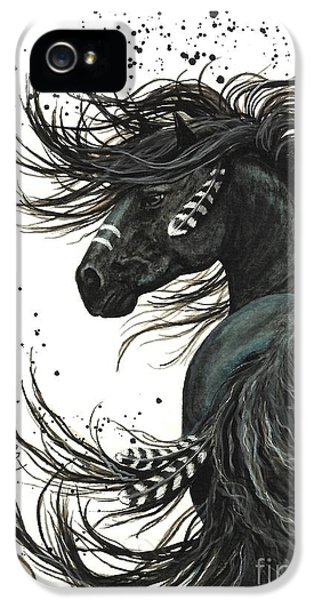 Portraits iPhone 5 Case - Majestic Spirit Horse  by AmyLyn Bihrle