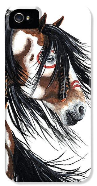Horse iPhone 5 Case - Majestic Pinto Horse by AmyLyn Bihrle