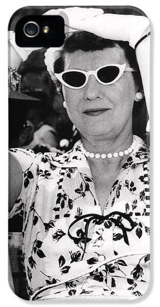 Mamie Eisenhower At West Point IPhone 5 Case by Underwood Archives