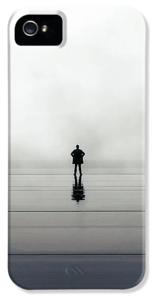 Man Alone IPhone 5 Case by Joana Kruse