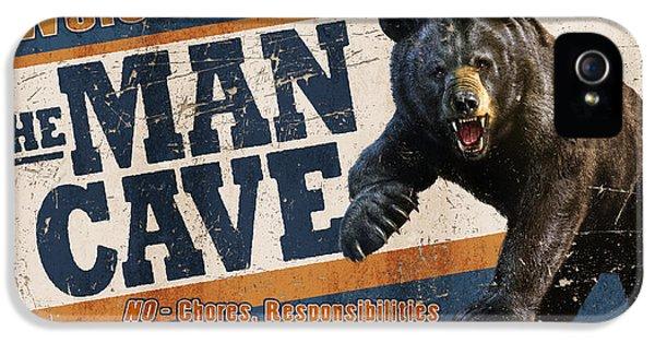 Man Cave Balck Bear IPhone 5 Case