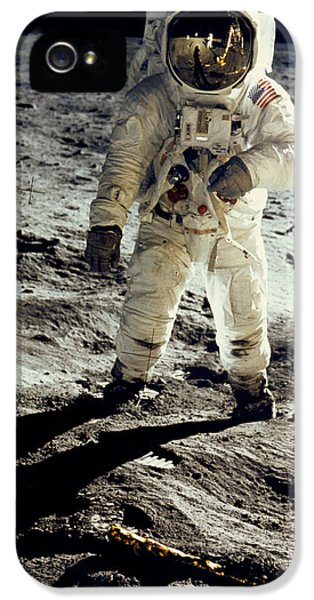 Man On The Moon IPhone 5 Case by Neil Armstrong/Underwood Archive