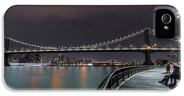 Times Square iPhone 5 Case - Manhattan Bridge - New York - Usa 2 by Larry Marshall