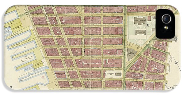 Manhattan, Double Page Plate No. 2 Map Bounded By Jay St IPhone 5 Case