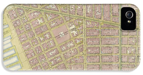 Manhattan, Double Page Plate No. 4 Map Bounded By Spring St IPhone 5 Case