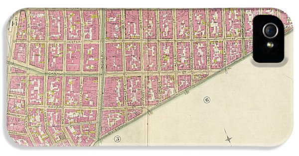 Manhattan, Double Page Plate No. 5 Map Bounded By Broome St IPhone 5 Case