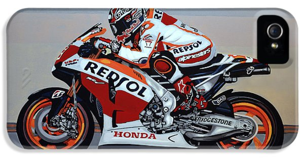 Marc Marquez IPhone 5 Case by Paul Meijering