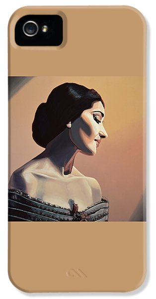 Maria Callas Painting IPhone 5 Case by Paul Meijering