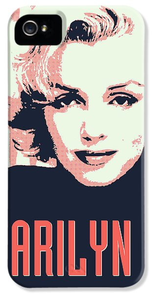 Marilyn M IPhone 5 Case by Chungkong Art