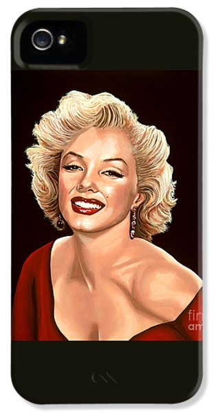 Marilyn Monroe 3 IPhone 5 Case by Paul Meijering