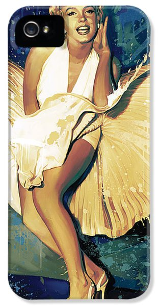 Marilyn Monroe Artwork 4 IPhone 5 Case by Sheraz A