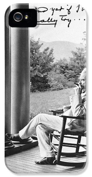 Mark Twain On A Porch IPhone 5 Case