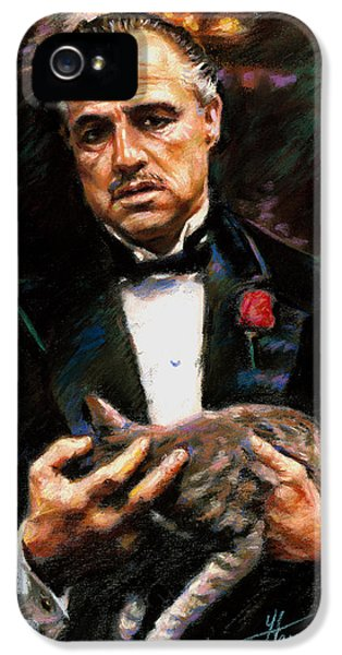 Marlon Brando The Godfather IPhone 5 Case by Viola El