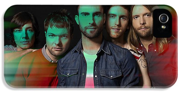 Maroon 5 Painting IPhone 5 Case by Marvin Blaine