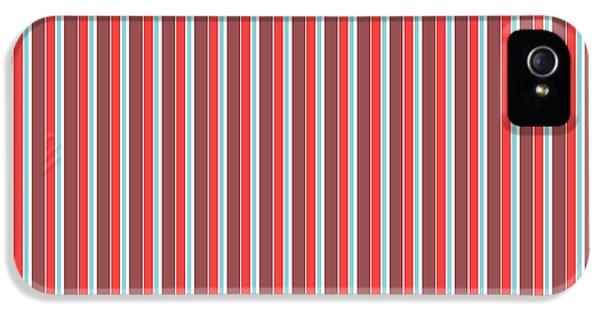Marsala Stripe 2 IPhone 5 Case