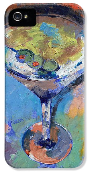 Martini Oil Painting IPhone 5 Case by Michael Creese