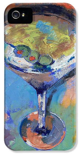 Martini Oil Painting IPhone 5 / 5s Case by Michael Creese