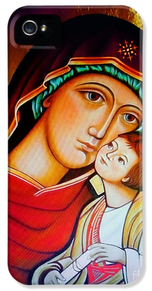 Mary And Jesus Icon IPhone 5 Case