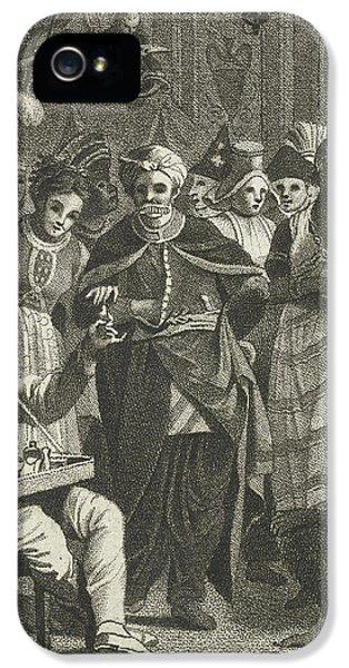 Masquerade, Lambertus Antonius Claessens IPhone 5 Case by Lambertus Antonius Claessens